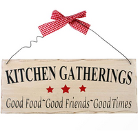 Kitchen Gatherings Hanging Sign