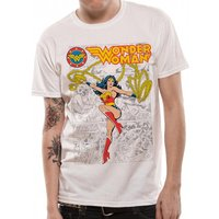 Wonder Woman - Retro Comics Men's Large T-Shirt - White