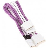 BitFenix Alchemy Molex zu 3x Molex Adapter 55 cm Sleeved  Purple / White / White