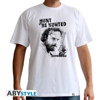 The Walking Dead - Hunt Or Be Hunted Men's Large T-Shirt - White