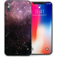 CASEFLEX APPLE IPHONE X PURPLE & BLACK CONSTELLATION CASE / COVER (3D)