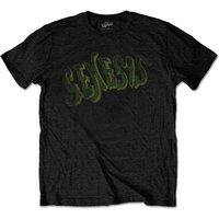 Genesis - Vintage Logo - Green Men's Medium T-Shirt - Black