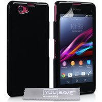 YouSave Accessories Sony Xperia Z1 Compact TPU Gel Case - Black