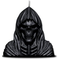 Wax Reaper Skull Candle With Metal Sculpture Inside