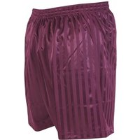 Precision Striped Continental Football Shorts 18-20 inch Maroon