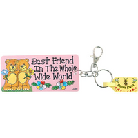 Pack of 6 Best Friend Key Rings