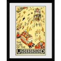 Transport For London Lure Of The Underground Framed Collector Print