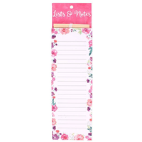 Floral Fusion Lists & Notes Pad