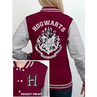 Harry Potter - Hogwarts Women's X-Large Varsity Jacket - Red
