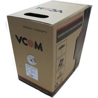 VCOM CAT5e UTP 305m Grey Retail Packaged Reel Box 24AWG 4 Pairs Solid CCA Network Cable