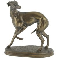 Whippet Standing Cold Cast Bronze Sculpture 19cm