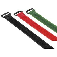 Hama Hook and Loop Cable Ties with Buckle, 250 mm, coloured
