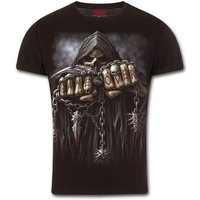 Game Over Modern Cut Turnup Sleeve Men's XX-Large T-Shirt - Black