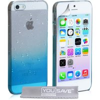 YouSave Accessories iPhone SE Raindrop Hard Case - Blue