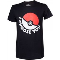 Pokemon I Choose You Mens Small Black T-Shirt
