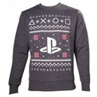Sony Playstation Mens Logo Large Christmas Jumper