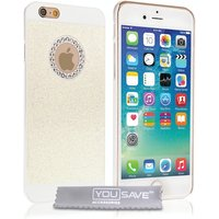 YouSave Accessories iPhone 6 / 6s Flash Diamond Case - White
