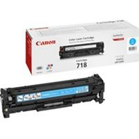 Canon 2661B002 (718C) Toner cyan, 2.9K pages @ 5% coverage