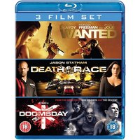 Wanted/Death Race/Doomsday Blu-ray
