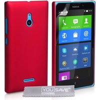 Yousave Accessories Nokia XL Hard Hybrid Case - Red