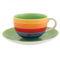 Rainbow Cup And Saucer Pack Of 4