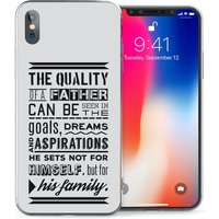 CASEFLEX APPLE IPHONE X FATHER FAMILY QUOTE CASE / COVER (3D)