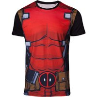 Deadpool - Suit Sublimation Men's X-Large T-Shirt - Red