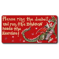 Please Ring The Doorbell And Run Smiley Magnet