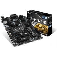 MSI 911-7A72-003 PC MATE Kaby Lake CrossFire Intel B250 DDR4 ATX Motherboard Black