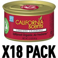 Concord Cranberry (Pack Of 18) California Scents Spillproof Organic Canister