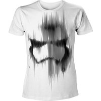 Star Wars VII The Force Awakens Adult Male Distressed Stormtrooper Large White T-Shirt