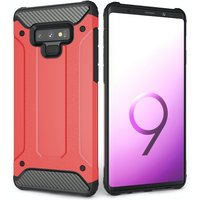 CASEFLEX SAMSUNG GALAXY NOTE 9 ARMOURED SHOCKPROOF CARBON CASE - RED