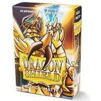 Dragon Shield Matte Japanese Size- Gold - 60 Sleeves Per Box - 10 packs