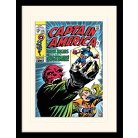 Captain America - Now Begins The Nightmare Mounted & Framed 30 x 40cm Print
