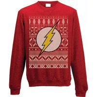 The Flash - Fair Isle Logo Men's Medium Christmas Jumper - Red