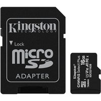 'Kingston Canvas Select Plus 16gb Micro Sd Uhs-i Flash Card With Adapter