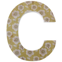 Letter C Wall Plaque