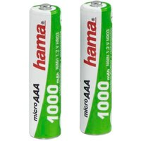 Hama Ready4Power NiMH Rechargeable Batteries, 2x AAA (Micro - HR03) 1000 mAh