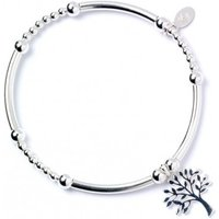 Tree of Life Charm with Noodle Bead Bracelet & Sterling Silver Ball