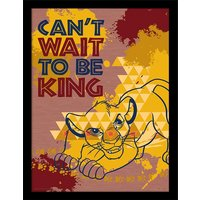 The Lion King - Can't Wait to be King Framed 30 x 40cm Print