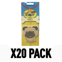 Pug Dog Vanilla (Pack Of 20) Air Freshener