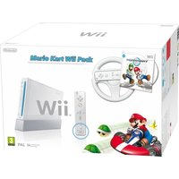 Nintendo Wii Console with Wii Remote Plus + Mario Kart