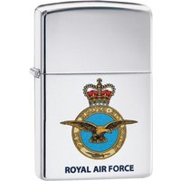 Zippo Royal Air Force Official Crest High Polish Chrome Finish Windproof Lighter