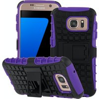Yousave Accessories Samsung Galaxy S7 Stand Combo Case - Purple