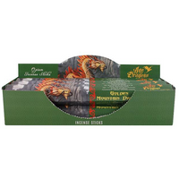 Pack of 6 Golden Mountain Dragon Incense Sticks by Anne Stokes