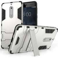 Nokia 5 Mesh Combo Stand Case - Silver