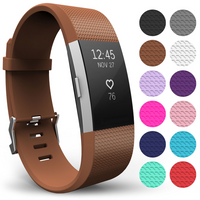 'Yousave Fitbit Charge 2 Strap Single (small) - Brown