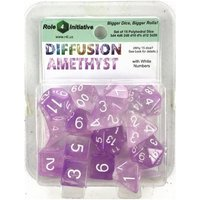 Diffusion Amethyst Poly 15 Set Dice