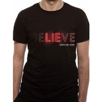 American Gods - Believe Men's Small T-Shirt - Black
