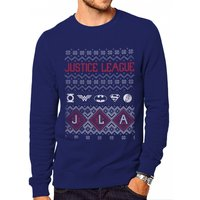 DC Originals - Justice League Fair Isle Men's Large Christmas Jumper - Blue